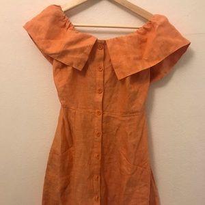 REFORMATION • off the shoulder dress